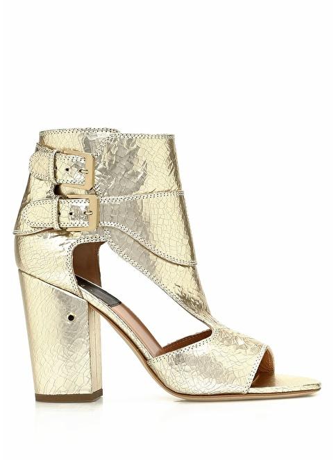 Laurence Dacade Kalın Topuklu Sandalet Altın